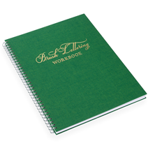 Brush lettering workbook, Klövergrön, Guld
