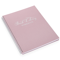 Brush lettering workbook, Dusty Pink, Silver