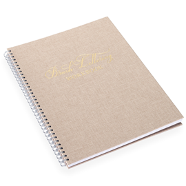 Brush lettering workbook, Sand Brown, Gold
