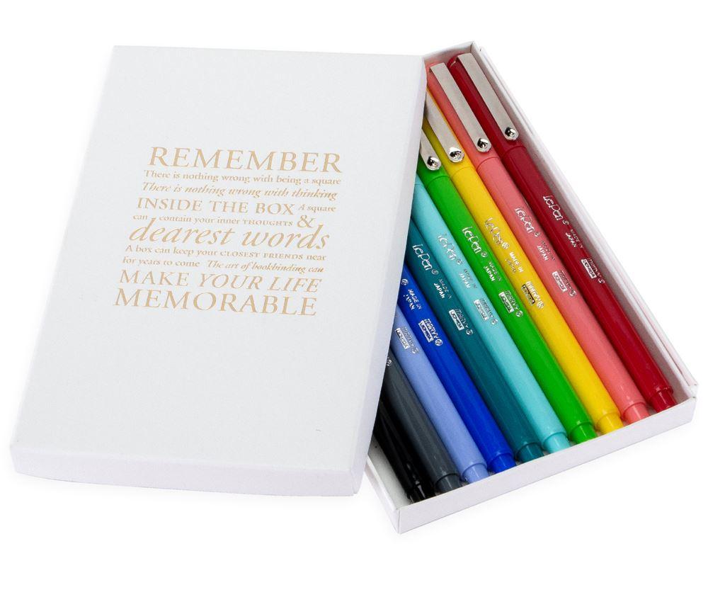 Geschenkset Fineliner Le Pen in zehn Farben