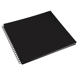 Album photos, couverture papier noir