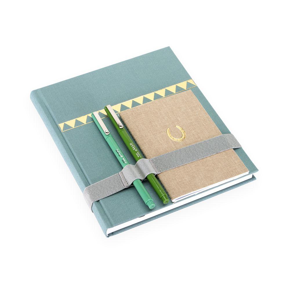 Skrivbok, Dimgrön och Guld - Get the Gallop