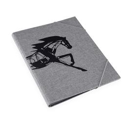 Vävmapp med snodd, Stengrå - Get the Gallop