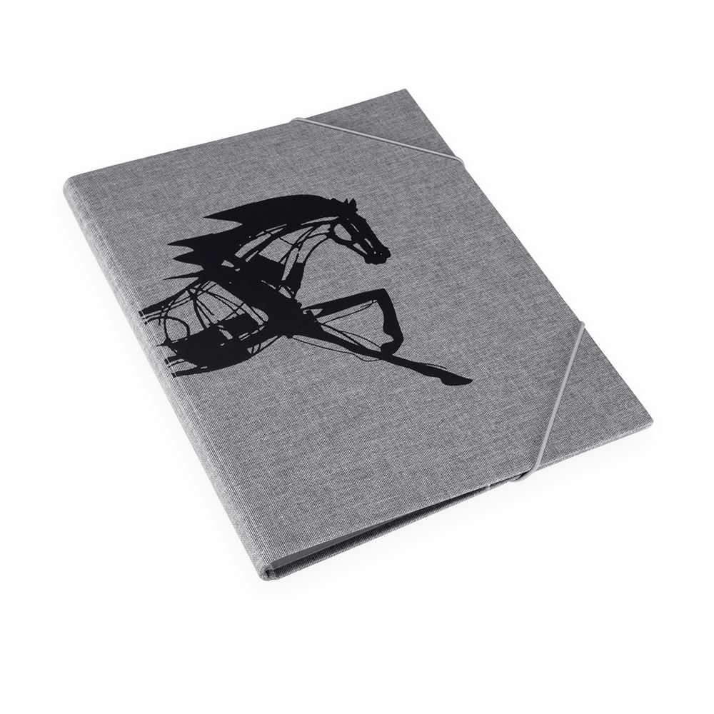 Folder, Pebble Grey - Get the Gallop