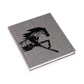 Notebook Hardcover, Pebble Grey - Get the Gallop