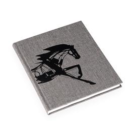 Notizbuch gebunden, Pebble grey - Get the Gallop
