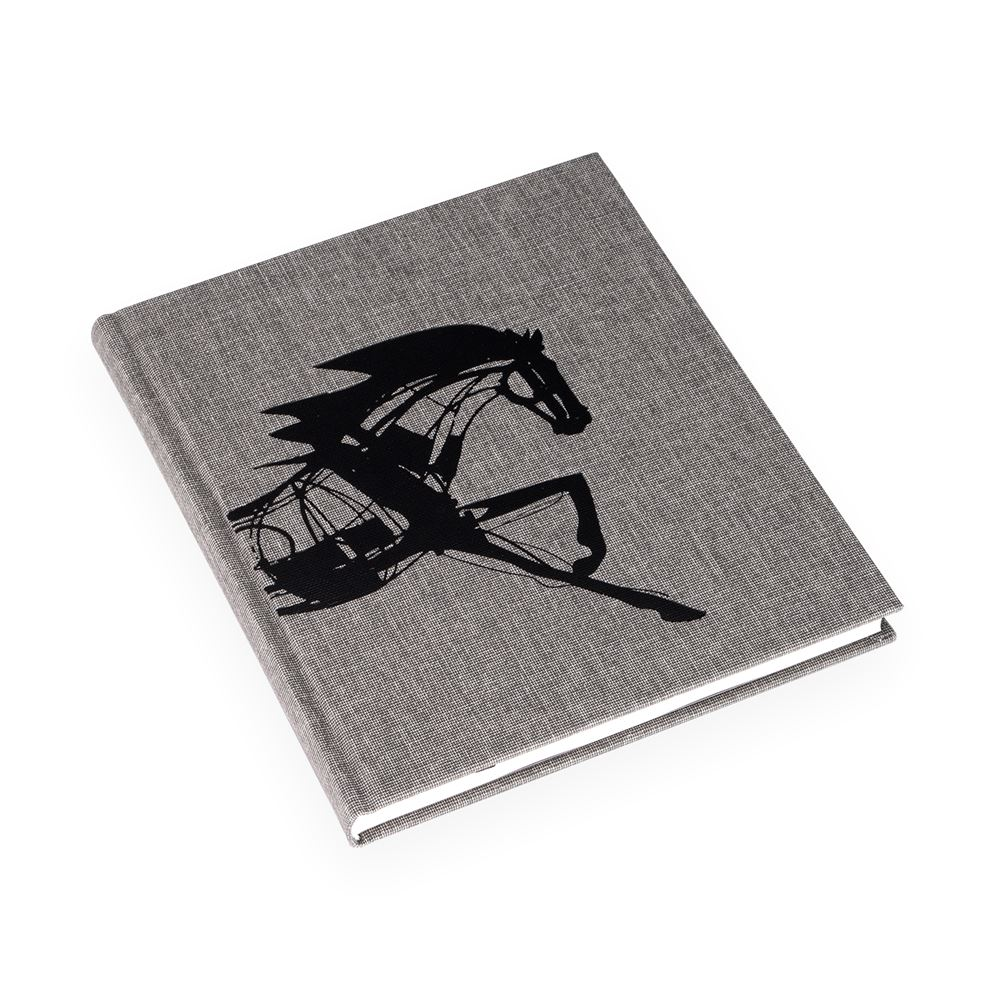 Inbunden anteckningsbok, Stengrå - Get the Gallop