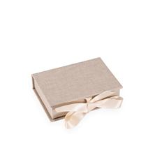 Vävklädd Box med sidenband, Sand