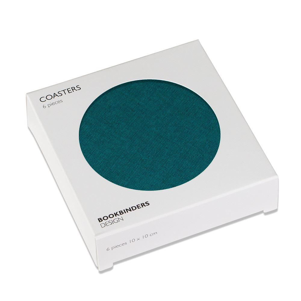 Coasters 6-pack, Emerald Green