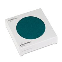 Glasunderlägg 6-pack, Smaragdgrön