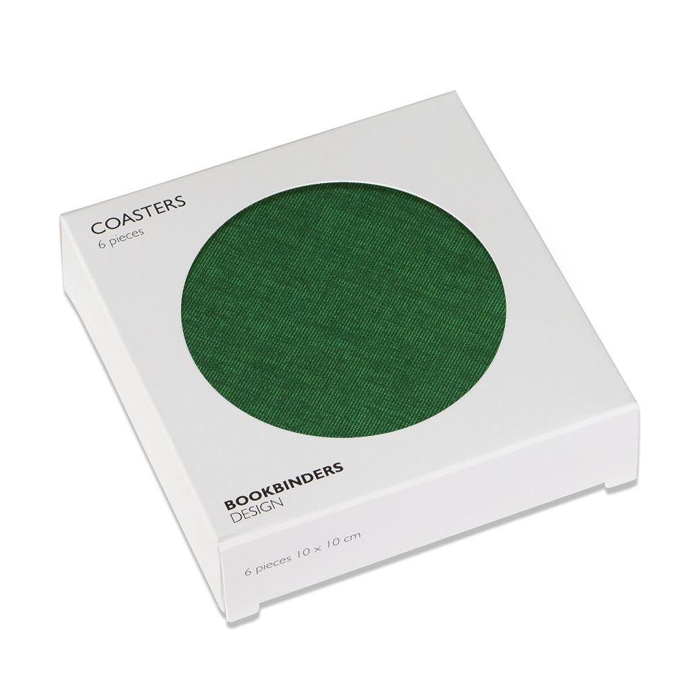 Glasunderlägg 6-pack, Klövergrön