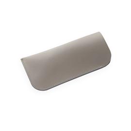 Leather Glasses Case, Light Grey