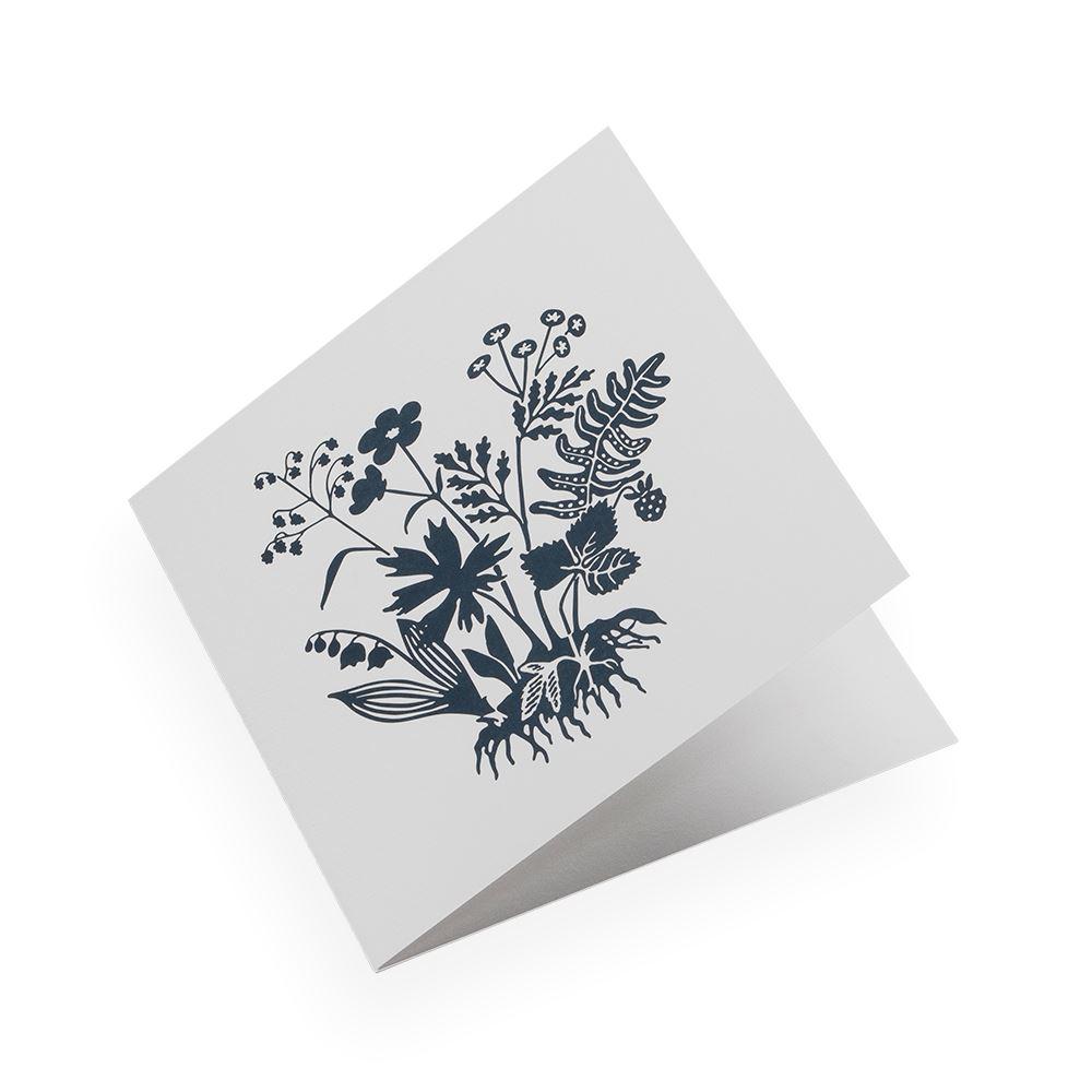 Cotton paper card, Tuvor, Smoke Blue