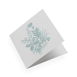 Cotton paper card, Tuvor, Dusty Green