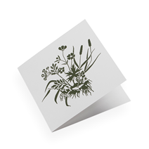Cotton paper card, Tuvor, Pine Green