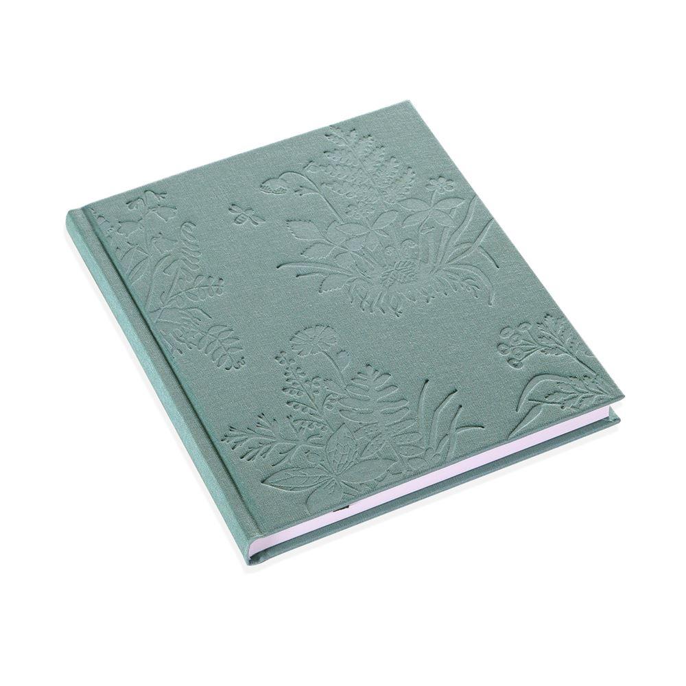 Inbunden anteckningsbok, Tuvor, Dimgrön