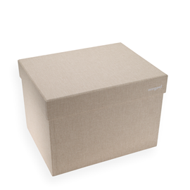 Box with lid, Sand Brown, Large - Norrgavel