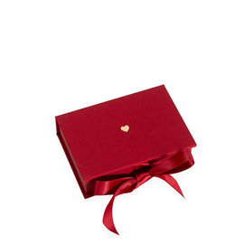 Box with Silk Ribbons, Rose Red, Little Heart