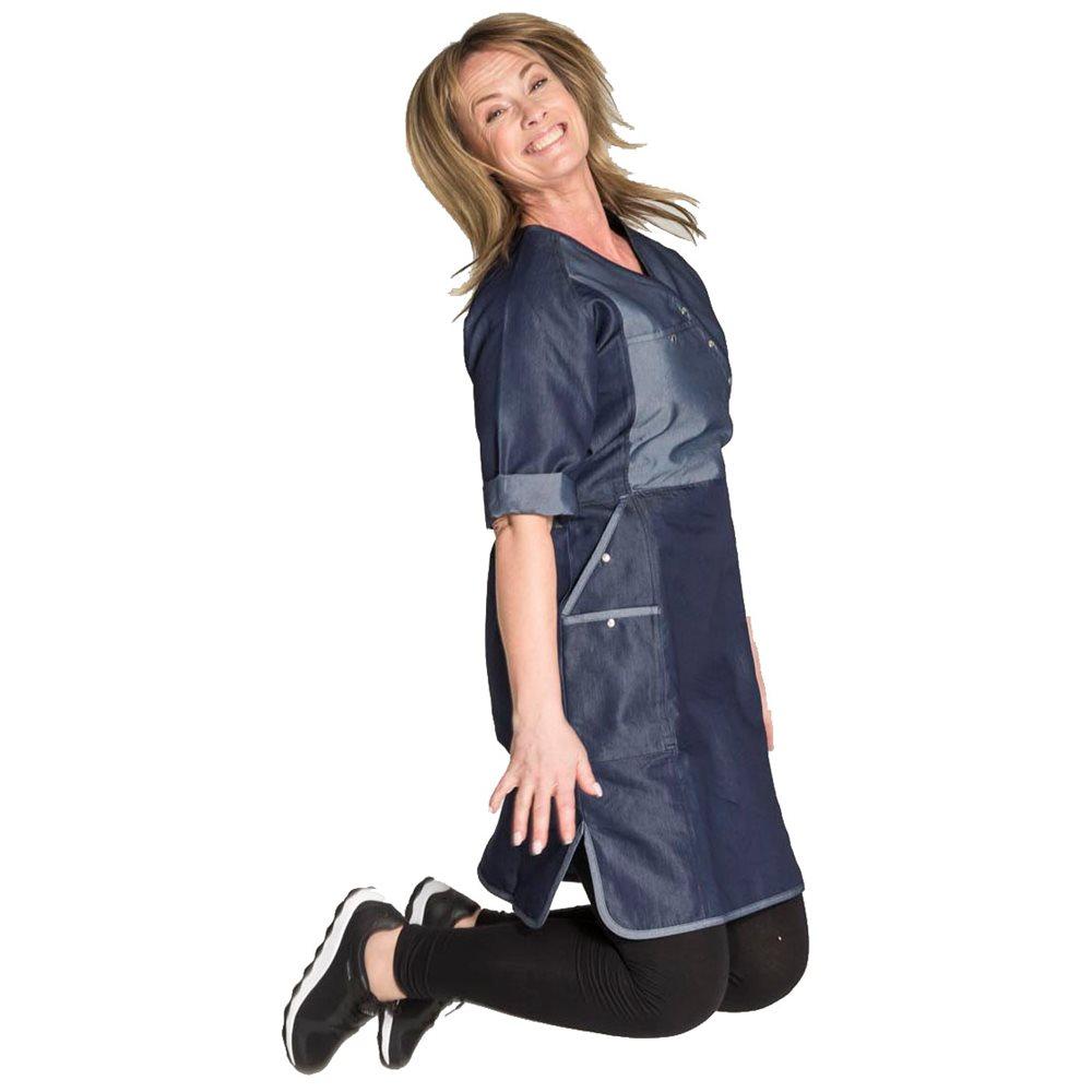 Klänning Soft Denim från Hejco Smarta arbetskläder