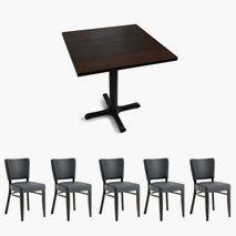 24 st Madonna Select stolar + 12 bord, 2 storlekar, 4 färger bordsskiva