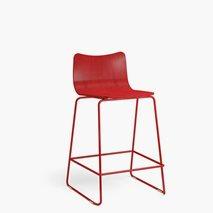 Barstol lav Knuff, sittehøyde: 63 cm, valgfri farge på setet/ben