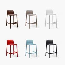 Barstol Riva Faro Mini sitthöjd: 65 cm, 6 färger, plast, stapelbar, utemiljö