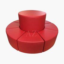 Rund sittepuff diameter 200 cm
