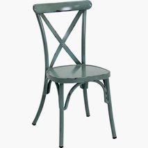 Utendørsstol Chicago vintage blå, stabelbar