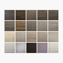 Bordplate Wooden Decors, melamin, innemiljø, 3 størrelser, 20 farger