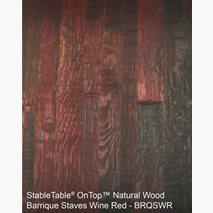 Bordplate Barrique Staves Wine Red, tykkelse 40 mm, 6 størrelser