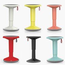 Balansepall UPis justerbar høyde 45 - 63 cm, 6 ulike farger