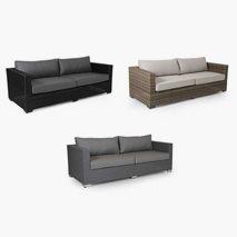 3-seters sofa Ninja, størrelse 212x88 cm, 3 farger
