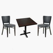 2 Madonna Select stolar + bord, 2 storlekar, 4 färger bordsskiva