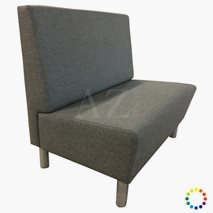 Sofa Oslo i tekstil/kunstskinn/skinn med bein, valgfri størrelse