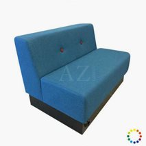 Sofa Halmstad i tekstil/kunstskinn, valgfri størrelse