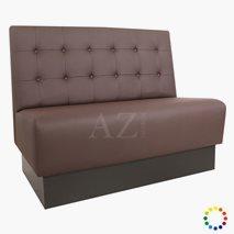 Sofa Visby med knapper i kvadrat, valgfri tekstil/kunstskinn/skinn, valgfri størrelse