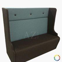 Sofa Lycksele, høyde: 130 cm, lengde: 150 cm, valgfri tekstil/kunstskinn/skinn
