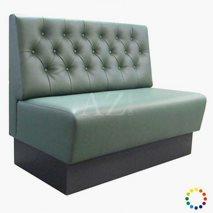Sofa Tylösand med dypstiftede knapper, valgfri tekstil/kunstskinn/skinn, valgfri størrelse