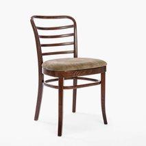 Stol PL-8291A stomme i brun bets, Sits i bomullssammet i färgen Taupe