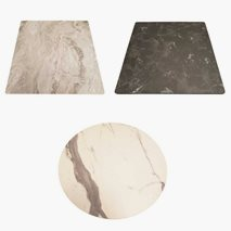 Bordplate kompaktlaminat valgfritt marmormønster, 8 størrelser