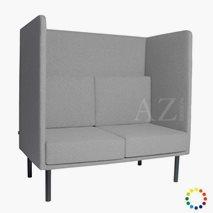 2-seters sofa Karlskrona med høy rygg, valgfri farge tekstil