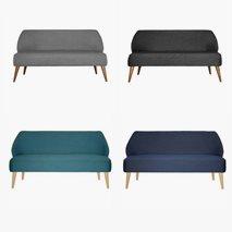 3- sits sofa Öland i textil, 4 farger, valgfri farge bein
