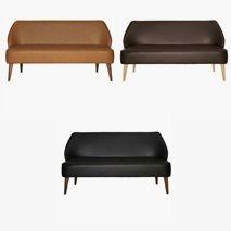 3 sits sofa Öland i  kunstleder, 3 farger, valgfri farge ben