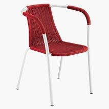 Karmstol Filoline, plast/stål, 5 farger, stablebar, utemiljø