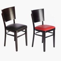 Stol Sara wenge stomme, sits i svart eller rött konstläder