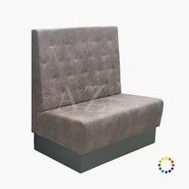 Sofa Torshälla med 4 knapperader, høyde 120 cm, valgfri tekstil/kunstskinn/skinn, valgfri størrelse
