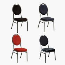 Bankettstol, 4 färger, stapelbar