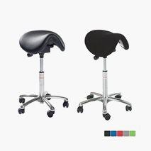 Sadelstole Dalton EasySeat, sittehöyde 58-77 cm, tekstil eller kunstleder, 5 farger