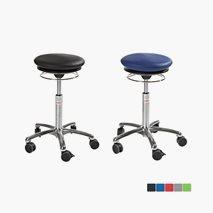 Pilates Air Seat taburett,  sitthöjd 52-71 cm, konstläder eller microfiber, 5 färger