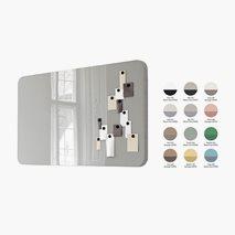 Skrivtavla Mood, glas i mitten, ljudisolerad stomme, 12 färgkombinationer, 250 x 100 cm